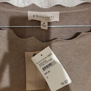 Philosophy tan lightweight sweater Medium